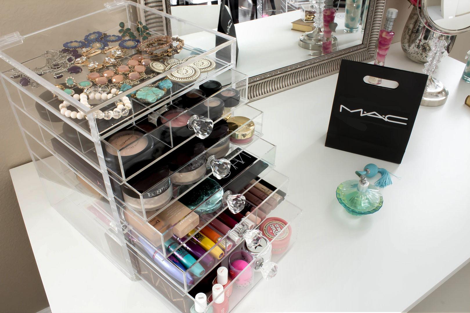 Acrylic Makeup Organizer Medium Open